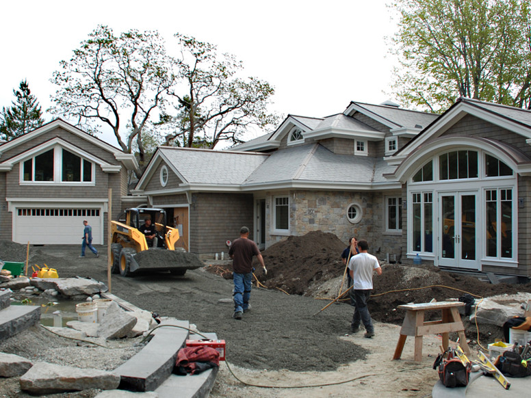 Waterfront colonial home unison windows for Unison house